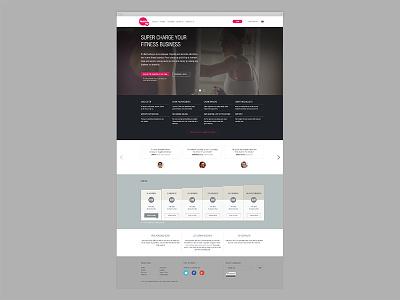 teamup homepage redesign website web redesign ui ux homepage gym training sport carousel