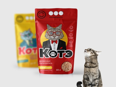Packaging design for cat litter