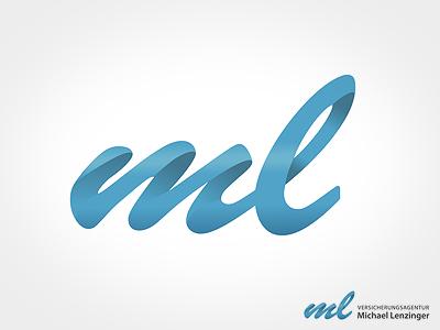 Logo ml logo signet initials insurance