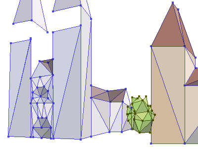 Low-poly city low-poly vector illustrator ci wn24