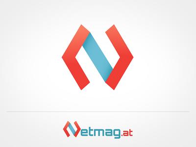 N for Netmag n letterform symbol mark logo