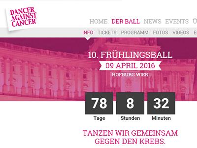 Website Dancer Against Cancer vienna austria charity relaunch webdesign website