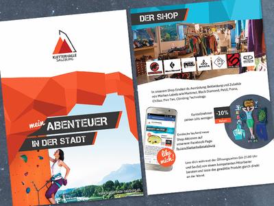 Folder Kletterhalle Salzburg rebranding redesign folder brochure austria salzburg climbing