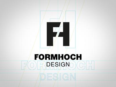 Logo Concept Formhoch Design fh cd signet symbold logo