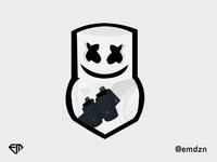 Marshmello Human Mascot logo by @emdzn