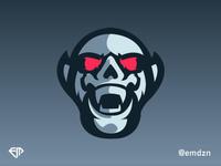 Demon Mascot Logo eSports by @emdzn