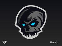 Skull Mascot Logo eSports by @emdzn