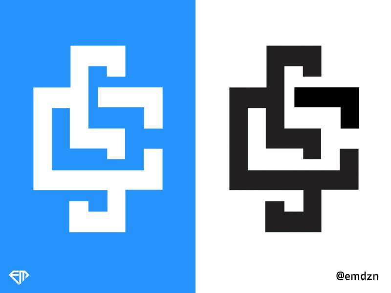 Letter Cs logoconcept concept letter art art lettering logo design logotype graphic icon sketch vector branding typography marca logo esports logo illustration design