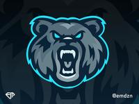 Bear Mascot Logo eSports by @emdzn