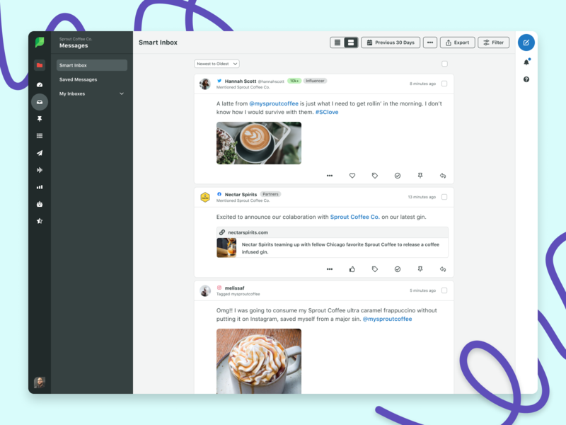 Sprout Social UI Refresh figma design system web app web app design ui website sprout social