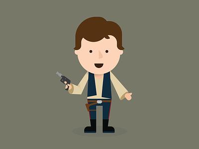 Han Solo han solo star wars solo illustration vector