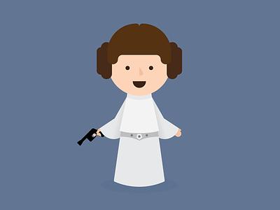 Leia princess leia star wars princess leia illustration vector