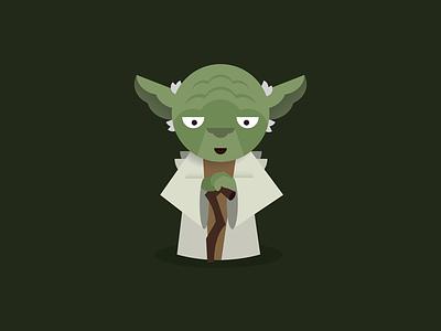 Yoda star wars yoda illustration vector