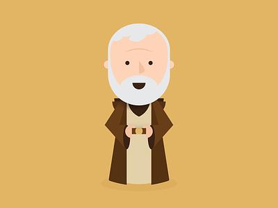 Obi-Wan obi-wan kenobi star wars obi-wan illustration vector