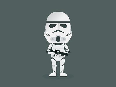 Stormtrooper star wars stormtrooper illustration vector