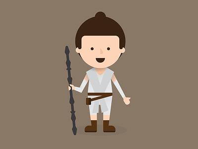 Rey star wars rey illustration vector
