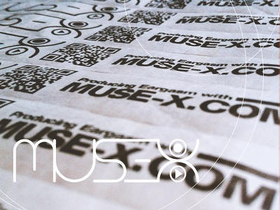 /// Muse-X's wristband /// muse stop play graphic design video maker video logo bracelet music muse-x qr core wristband
