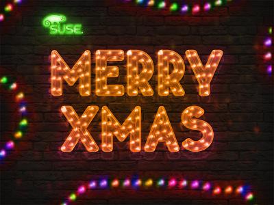 /// Merry X-mas /// rope led merry christmas merry xmas light neon wall holiday christmas xmas