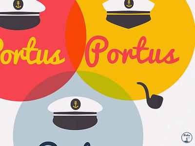 Portus Navy logo 🐟 ullustrator download vector design sailor logo ocean pipe anchor hat sea navy