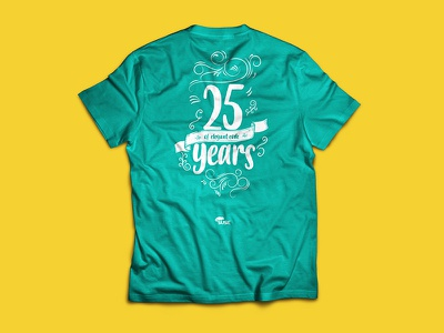 B2RUN t-shirt vol.2° ribbon lettering blackboard anniversary decor hand write calligraphy handwritten design graphic shirt t-shirt