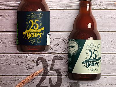 Let's drink on it mockup logo glass opensource beer vintage label