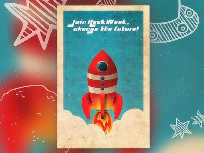 ::: Yep... another cool Rocket! ::: sci-fi hacker old style retro child toy space vintage event card hack rocket