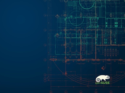 OpenSUSE Desktop background desktop background ux blue circuits background desktop blueprint linux design