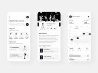 Medical App - Concept Exploration black bw clean health patient doctor care medical care medical app clinic medical ui
