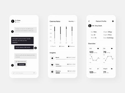 Medical App Exploration - Stats medical design patient doctor health care medical care vietnam ui medical app medical