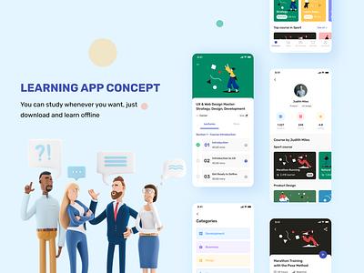 Izzi - Learning Mobile App ui kit uidesign fancy ux illustration art uiux uiuxdesign clean design clean ui clean ui ux academy learning learn ui
