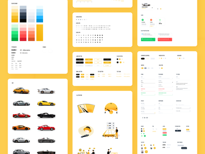tmrw.car - UI Style Guide Freebie element component symbol system styleguide figma sketch freebie free new car used car buy sell automobile vehicle trader dealer marketplace market car