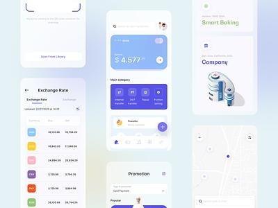 Smart Banking Concept App wallet bank app design app product design 3d clean ui clean uiux product illustration ui