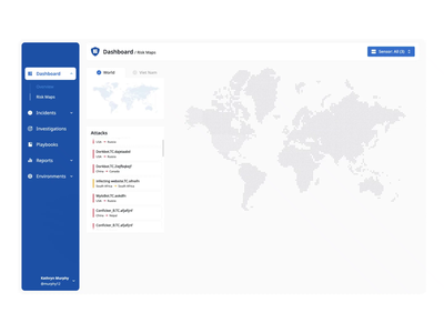 Dashboard - Risk Maps - Vietnam for CMC Cyber Security design creative security webapp webapps defender uxdesign uidesign vietnam tmrw dashboard virus userinterface clean minmal uiux dailyui