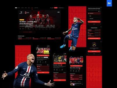 TV360 - Behance Showcase movie poster minimal creative design graphic web interaction interface dccomics marvel uidesign neymar football soccer uiux ui movie app sport music movie
