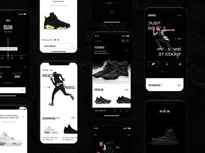 Jorden. - Buy & Sell Sneakers UI Kit ui8 uikit typography graphic design puma streetstyle shoes yezze jordan adidas nike white black uiux tmrw minimal creative sneaker design ui