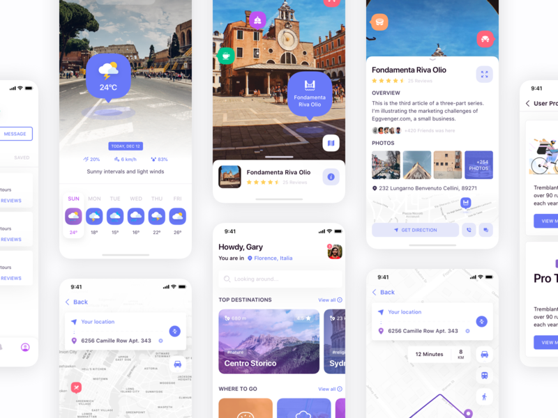 Eggplore - AR Maps & Travel 🗺 guide user interface direction navigation map city destination kit ui travel reality free free sketch illustration argument ar