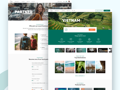 sDiscovery Travel - Home & Partners map trip plan tour detail vietnam partner web direction destination travel ui