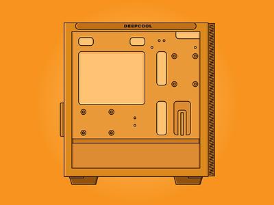 Deepcool Macube 110 White art vector vector illustration design art sticker design flat  design illustration graphic design illustration art design