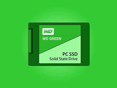 WD Green SSD 240GB art sticker design graphic design design art vector illustration vector flat  design illustration art design illustration