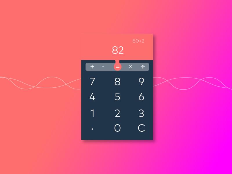 #0004 Calculator UI design Challenge web typography layoutdesign illustrator cc photoshop cc uidesign
