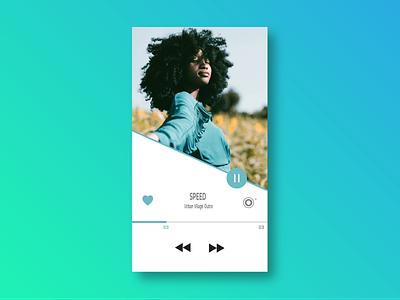 #009 Music Player ui photoshop cc illustrator cc layoutdesign image background uidesign