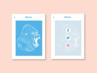 #010 Social Share Ui design