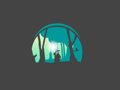 Wandering Gandalf gandalf forest design lord of the rings illustration
