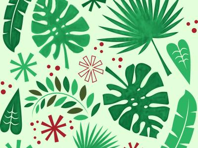 It's gonna be a Tiki Christmas! pattern illustration tiki