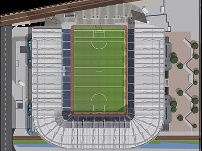 Croke Park Stadium illustrator graphic design hurling gaelic football football sport ireland dublin stadium gaa flat vector design illustration