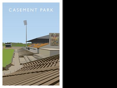 Casement Park gaelic hurling irish illustration illustrator vector stadium ireland sport gaa digital art graphicdesign belfast