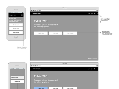 Wireframes for wifi project