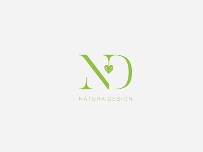 ND Logo Concept nature vector typography minimal design graphic  design creative logodesign logo