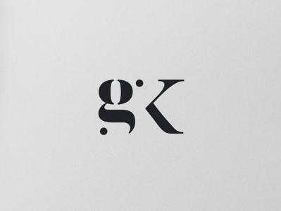 GK Monogram monogram architecture branding typography minimal design graphic  design creative logodesign logo