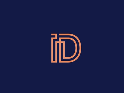 ID Monogram monogram minimal typography graphic  design creative logodesign logo